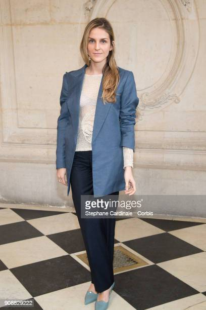 Gaia Repossi attends the Christian Dior Haute Couture Spring Summer 2018 show as part of Paris Fashion Week January 22 2018 in Paris France