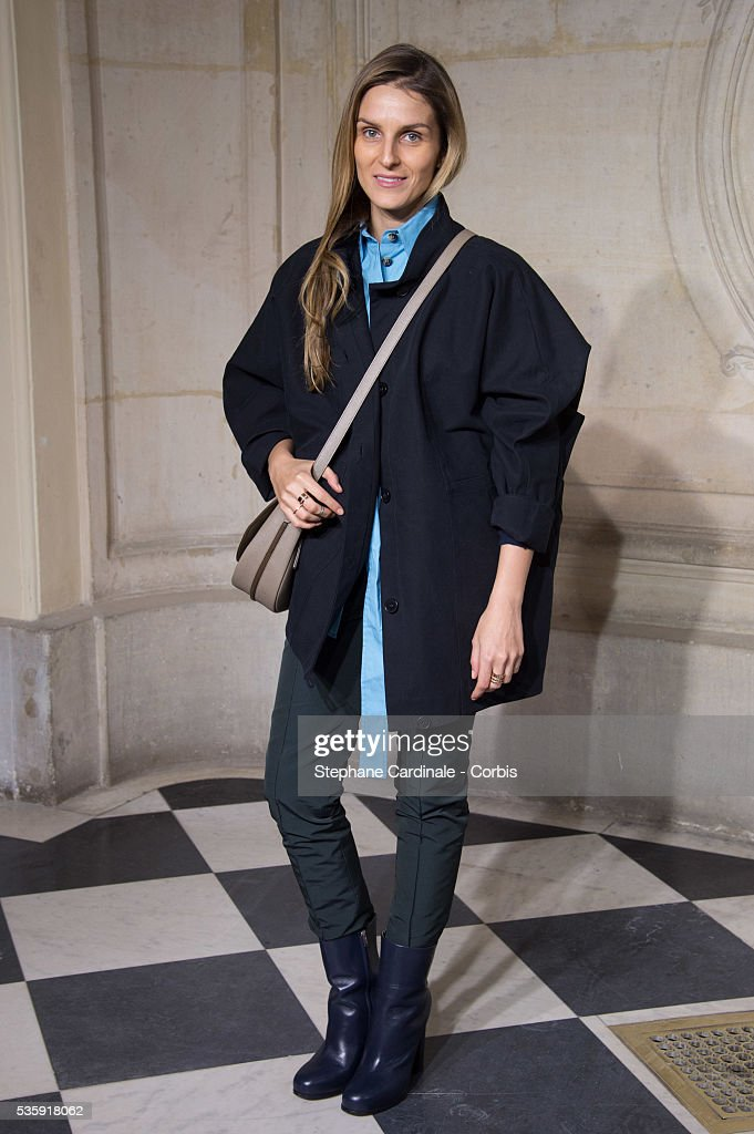 Gaia Repossi attends the Christian Dior show as part of Paris Fashion Week Haute Couture Spring/Summer 2014, in Paris.