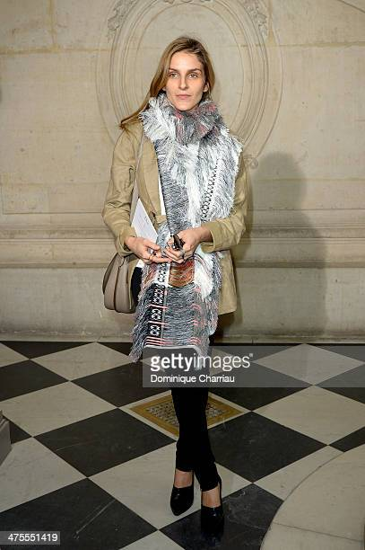 Gaia Repossi attends the Christian Dior show as part of the Paris Fashion Week Womenswear Fall/Winter 20142015 on February 28 2014 in Paris France