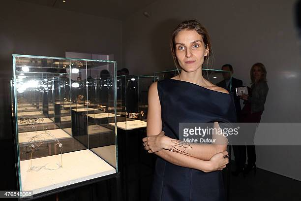 Gaia Repossi attends the Gaia Repossi's Jewelry Collection At Jeu de Paume as part of the Paris Fashion Week Womenswear Fall/Winter 20142015 on March...