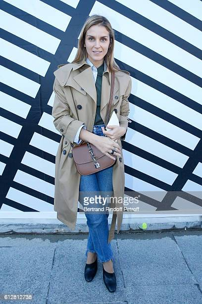 Gaia Repossi attends the Louis Vuitton show as part of the Paris Fashion Week Womenswear Spring/Summer 2017 on October 5 2016 in Paris France