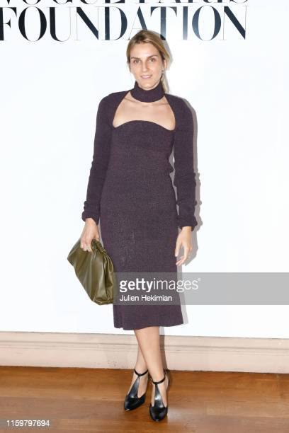 Gaia Repossi attends the Vogue diner as part of Paris Fashion Week - Haute Couture Fall Winter 2020 at Le Trianon on July 02, 2019 in Paris, France.
