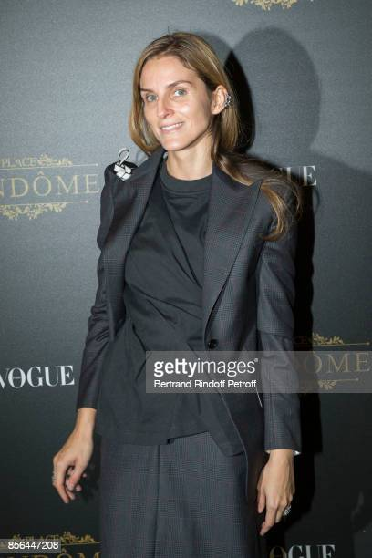 Gaia Repossi attends Vogue Party as part of the Paris Fashion Week Womenswear Spring/Summer 2018 at on October 1 2017 in Paris France