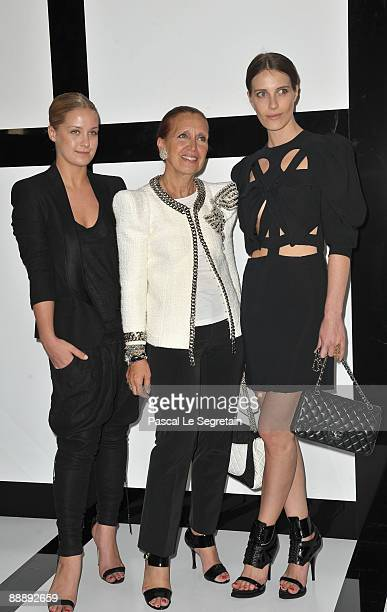 Gaia Repossi, Danielle Steel and Guest arrive at Chanel during Paris Fashion Week Haute Couture A/W 2009/10 at Grand Palais on July 7, 2009 in Paris,...