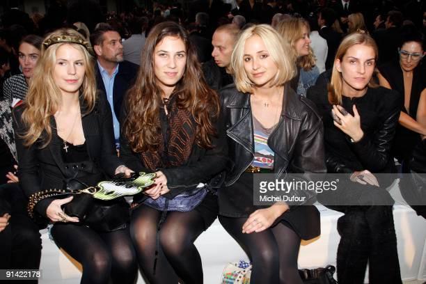 Gaia Repossi, Eugenia Niarchos, Margherita Missoni and Vanessa Traina attend Givenchy Pret a Porter show as part of the Paris Womenswear Fashion Week...