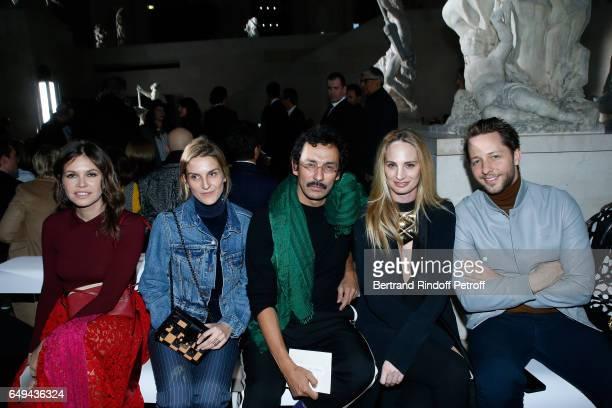 Gaia Repossi , Haider Ackermann, guest and Derek Blasberg attend the Louis Vuitton show as part of the Paris Fashion Week Womenswear Fall/Winter...