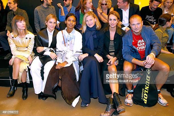 Gaia Repossi Liya Kebede Elizabeth von Guttman Alexia Niedzielski and Juergen Teller attend the Celine show as part of the Paris Fashion Week...