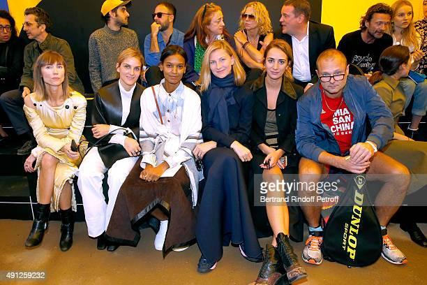 Gaia Repossi Liya Kebede Elizabeth von Guttman Alexia Niedzielski and Juergen Teller attend the Celine show as part of the Paris Fashion Week...