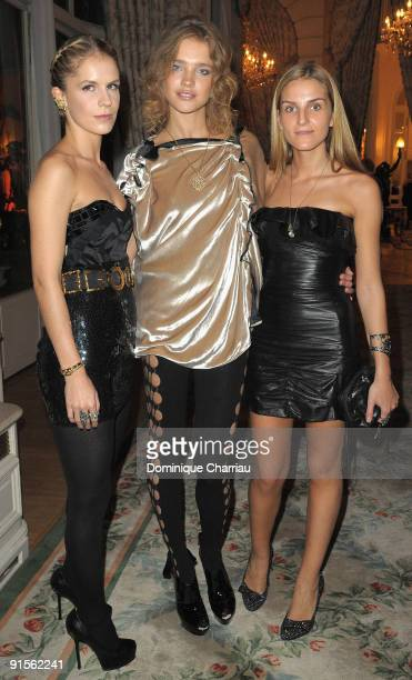 Gaia Repossi Model Natalia Vodianova and Eugenie Niarchos attend the launch Of New Jewellery Collection By Gaia Repossi And Eugenie Niarchos at Hotel...