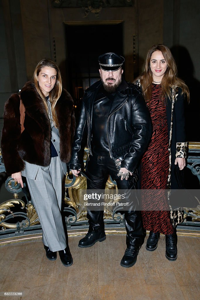 Gaia Repossi, Peter Marino and Alexia Niedzielski attend the Berluti Menswear Fall/Winter 2017-2018 show as part of Paris Fashion Week on January 20, 2017 in Paris, France.