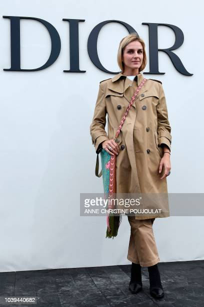 Gaia Repossi poses during the photocall prior to the Christian Dior's SpringSummer 2019 ReadytoWear collection fashion show in Paris on September 24...