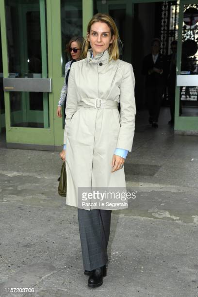 Gaia Repossi poses prior the Karl Lagerfeld Homage at Grand Palais on June 20, 2019 in Paris, France.