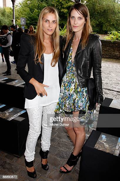 Gaia Repossin and Vanessa Traina attends the Givenchy Haute Couture A/W 2010 Fashion show at Parc Georges Brassens on July 7, 2009 in Paris, France.