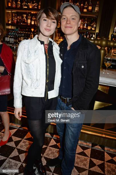 Gaia Romilly Wise and cast member Freddie Fox attend the press night after party for An Ideal Husband at the Smith Wollensky on May 3 2018 in London...