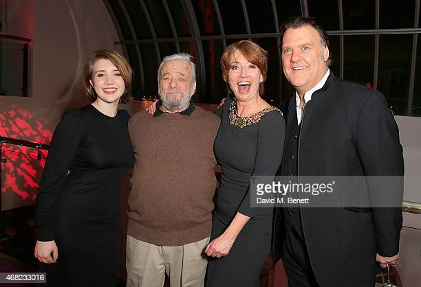 Gaia Romilly Wise Stephen Sondheim Emma Thompson and Bryn Terfel during the press night performance of 'Sweeney Todd The Demon Barber of Fleet...