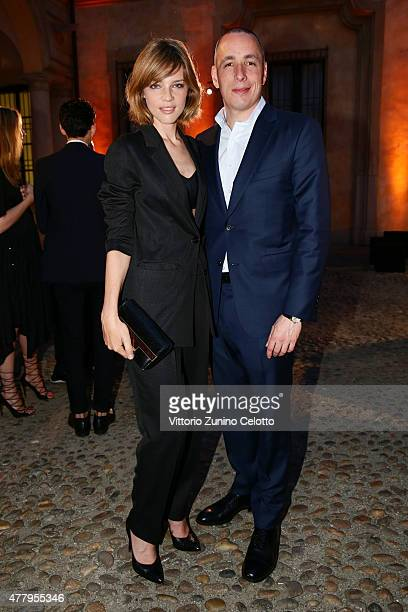 Gaia Trussardi and Dan Peres attend DETAILS Magazine Cocktail Party on June 20, 2015 in Milan, Italy.