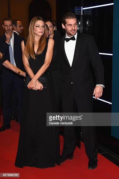 Gaia Trussardi and Tomaso Trussardi attend Un'Altra Storia Charity Event Benefiting Doppia Difesa Arrivals during the 9th Rome Film Festival at...