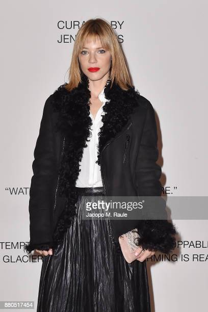 Gaia Trussardi attends Michel Comte, Black Light White Light Opening at Triennale di Milano on November 27, 2017 in Milan, Italy.