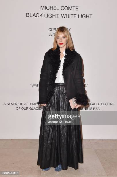 Gaia Trussardi attends Michel Comte Black Light White Light Opening at Triennale di Milano on November 27 2017 in Milan Italy