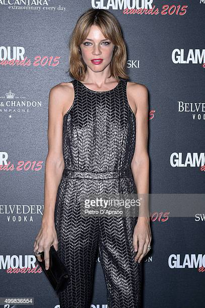 Gaia Trussardi attends the Glamour Awards 2015 on December 3 2015 in Milan Italy