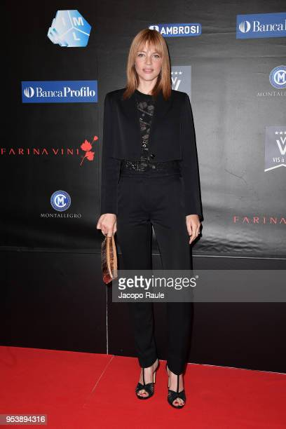Gaia Trussardi attends the Riviera International Film Festival on May 2, 2018 in Sestri Levante, Italy.