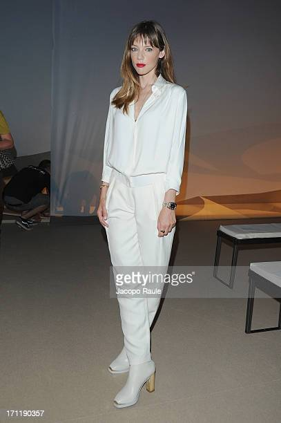 Gaia Trussardi attends the Trussardi show during Milan Menswear Fashion Week Spring Summer 2014 on June 23 2013 in Milan Italy