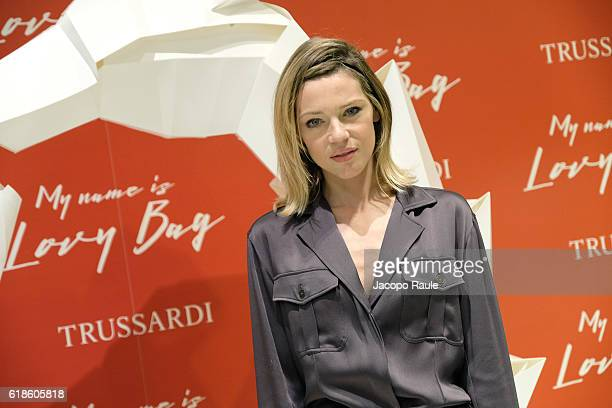 Gaia Trussardi attends Trussardi Lovy Bag Presentation on October 27, 2016 in Milan, Italy.