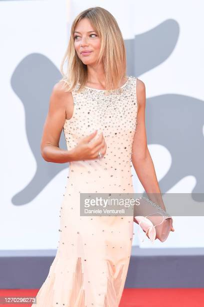 "Gaia Trussardi walks the red carpet ahead of the Opening Ceremony and the ""Lacci"" red carpet during the 77th Venice Film Festival at on September 02,..."