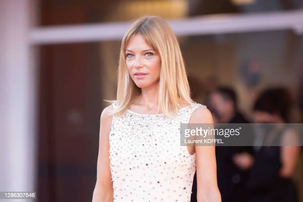 """Gaia Trussardi walks the red carpet ahead of the Opening Ceremony and the """"Lacci"""" red carpet during the 77th Venice Film Festival on September 02,..."""