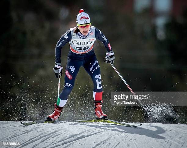 Gaia Vuerich of Italy during Cross Country Ladies 17 km Sprint Free on March 01 2016 in Gatineau Quebec Canada