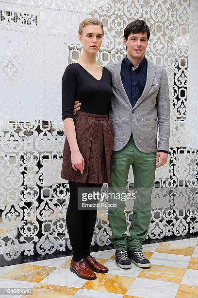 Gaia Weiss and Filippo Scicchitano attend the 'Bianca Come Il Latte Rossa Come Il Sangue' photocall at Hotel Bernini on March 26 2013 in Rome Italy