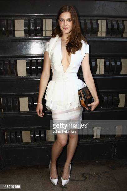 Gaia Weiss arrives for the Stephane Rolland Haute Couture Fall/Winter 2011/2012 show as part of Paris Fashion Week on July 5 2011 in Paris France