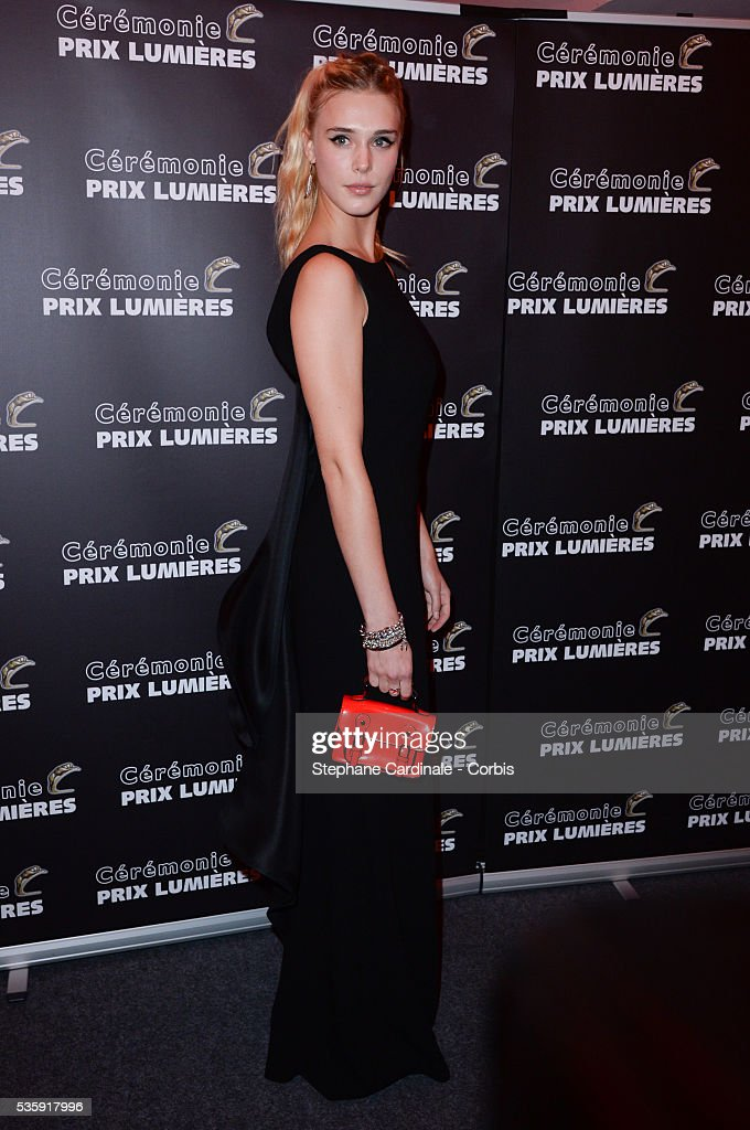 Gaia Weiss attends 'Les Prix Lumieres 2014' Cinema Awards, in Paris.