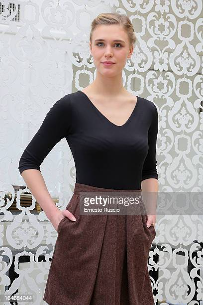 Gaia Weiss attends the 'Bianca Come Il Latte Rossa Come Il Sangue' photocall at Hotel Bernini on March 26 2013 in Rome Italy
