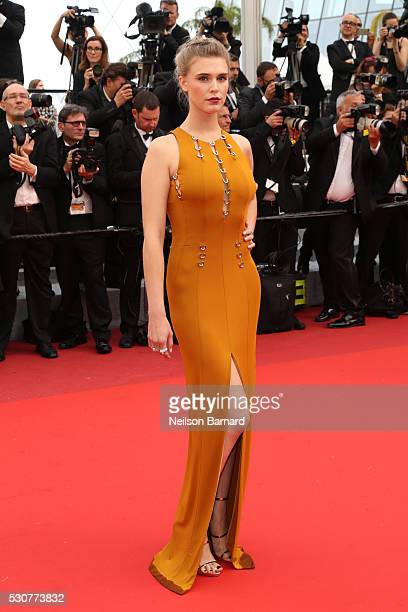 Gaia Weiss attends the 'Cafe Society' premiere and the Opening Night Gala during the 69th annual Cannes Film Festival at the Palais des Festivals on...