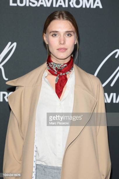 Gaia Weiss attends the CR Fashion Book x LuisaViaRoma Photocall as part of the Paris Fashion Week Womenswear Spring/Summer 2019 on October 1 2018 in...