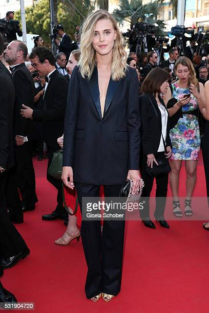 Gaia Weiss attends the 'Julieta' premiere during the 69th annual Cannes Film Festival at the Palais des Festivals on May 17 2016 in Cannes France