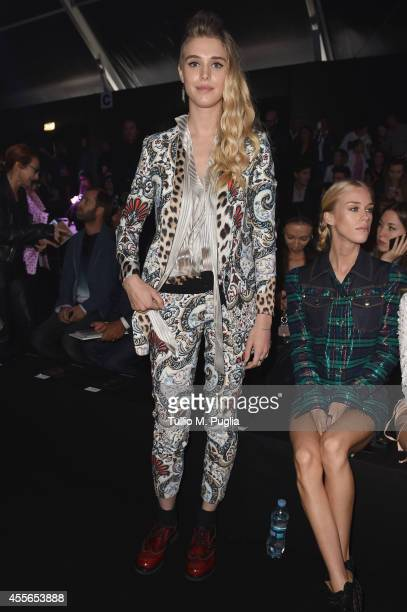 Gaia Weiss attends the Just Cavalli show during the Milan Fashion Week Womenswear Spring/Summer 2015 on September 18 2014 in Milan Italy