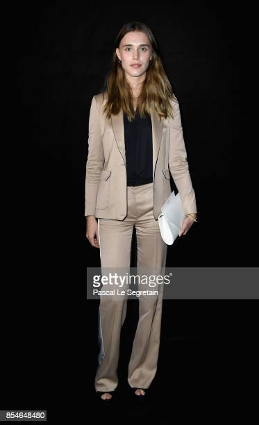 Gaia Weiss attends the Lanvin show as part of the Paris Fashion Week Womenswear Spring/Summer 2018 on September 27 2017 in Paris France
