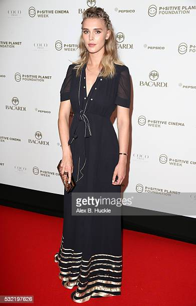 Gaia Weiss attends the Planet Finance Foundation Gala Dinner during the 69th annual Cannes Film Festival at Hotel Martinez on May 18 2016 in Cannes...