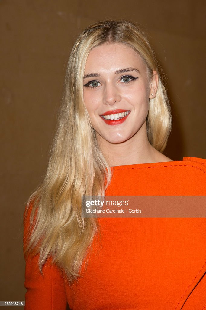 Gaia Weiss attends the Stephane Rolland show as part of Paris Fashion Week Haute-Couture Spring/Summer 2014, at Grand Palais in Paris.