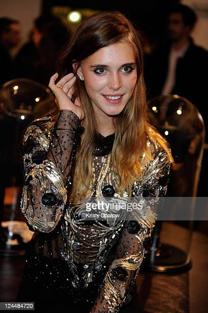 Gaia Weiss attends the Vogue Fashion Celebration Night 2011 wearing Emanuel Ungaro at the Emanuel Ungaro boutique on Avenue Montaigne on September 8...