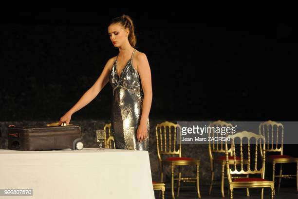 Gaia Weiss in Dom Juan, drama by Moliere directed by Francis Huster and presented at the Nights of the Citadel, in Sisteron in France on July 29,...