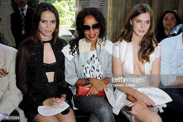 Gaia Weiss Melissa Mars and Sonia Rolland attend the Stephane Rolland Haute Couture Fall/Winter 2011/2012 show as part of Paris Fashion Week at Cite...
