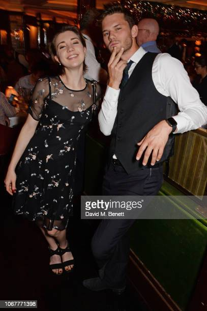 Gaia Wise and Jeremy Irvine attend the annual 'One Night Only At The Ivy' in aid of Acting For Others on December 2 2018 in London England