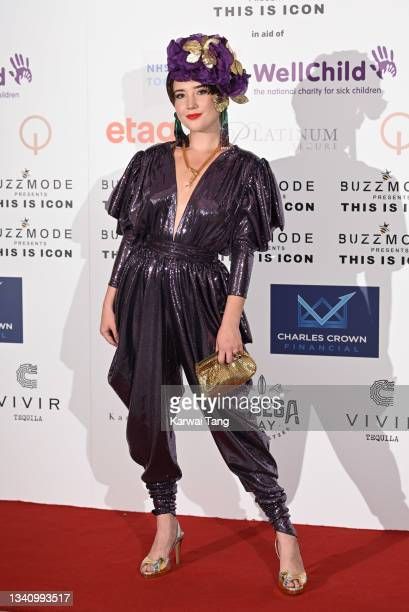 Gaia Wise attends The Icon Ball 2021 during London Fashion Week September 2021 at The Landmark Hotel on September 17, 2021 in London, England.
