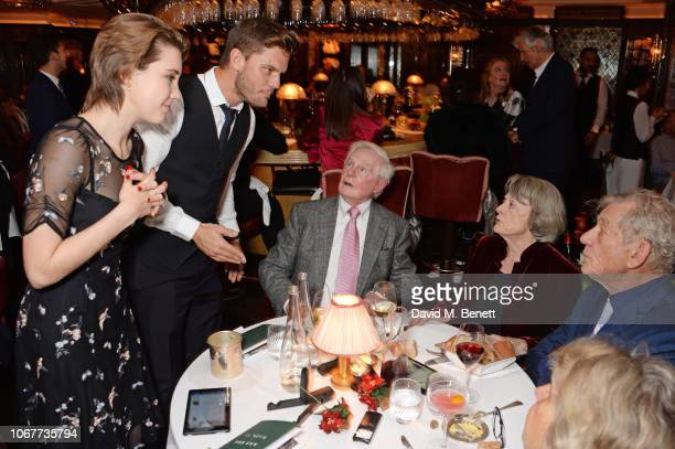Gaia Wise Jeremy Irvine Sir Derek Jacobi Dame Maggie Smith Sir Ian McKellen and Anne Reid attend the annual 'One Night Only At The Ivy' in aid of...