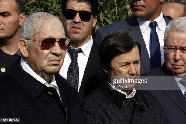 Gaid Salah Chief of Staff With Said Bouteflika Brother and Presidential Council Abde El Aziz Bouteflika at the General's Burial at Retirement Atailia...