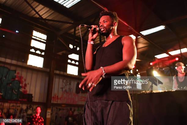 Gaika performs onstage during 2018 AfroPunk Festival Atlanta Carnival of Consciousness at 787 Windsor on October 13 2018 in Atlanta Georgia