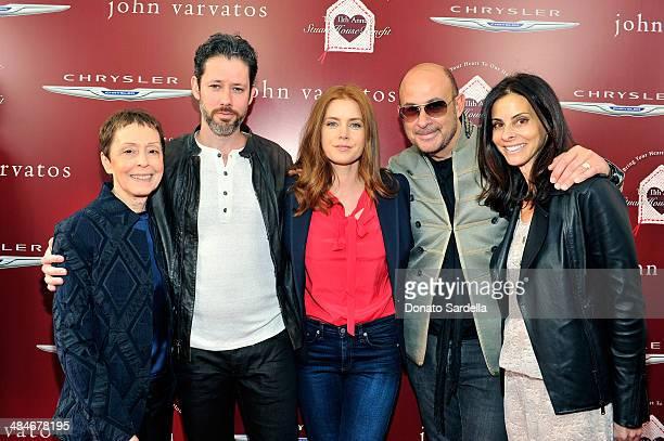 Gail Abarbanel of Stuart House actor Darren Le Gallo actress Amy Adams designer John Varvatos and wife Joyce Varvatos arrive at the John Varvatos...